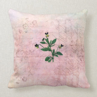 Almost Mauve Pink Wild Violas Cushion