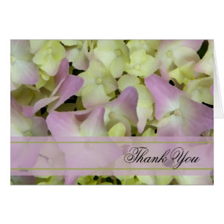 Almost Pink Hydrangea Thank You Card