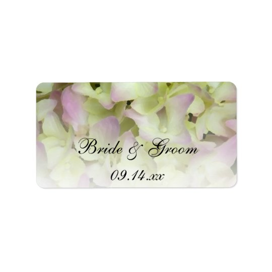 Almost Pink Hydrangea Wedding Favour Tags Address Label