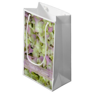 Almost Pink Hydrangea Wedding Small Gift Bag