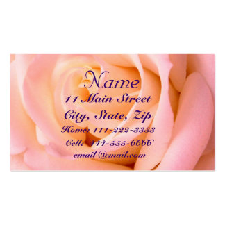Almost Pink Profile Card Business Card Template