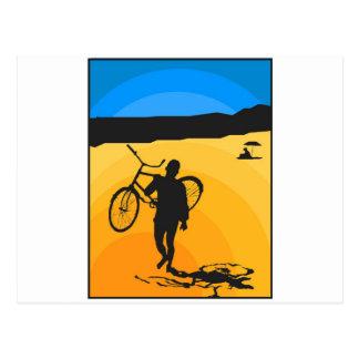 Almost Summer Biker Postcard