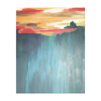 Almost to Santa Fe Abstract Painting Canvas Print