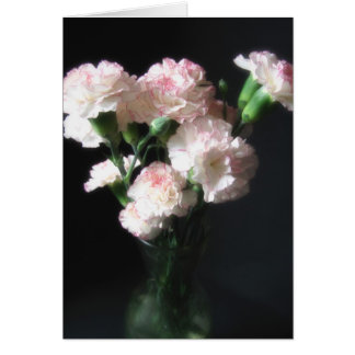 Almost White Carnations 2 Card