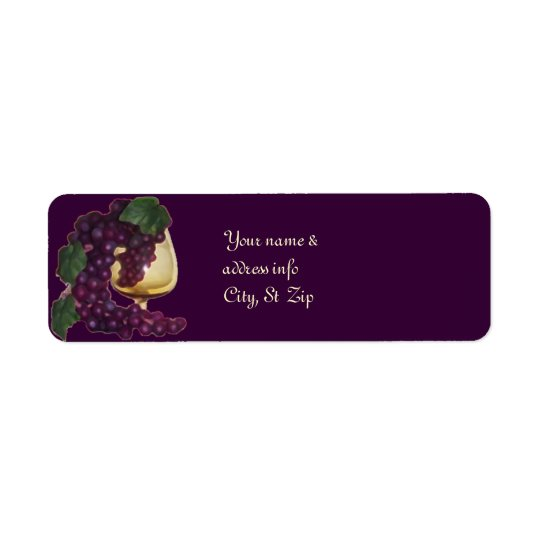 Almost Wine Return Address Label