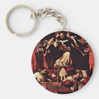 Alms Of Saint Antoninus, By Lotto Lorenzo (Best Qu Basic Round Button Key Ring