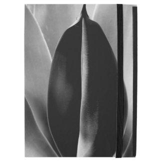 "Aloe - Macro Fine Art Photograph in Black & White iPad Pro 12.9"" Case"