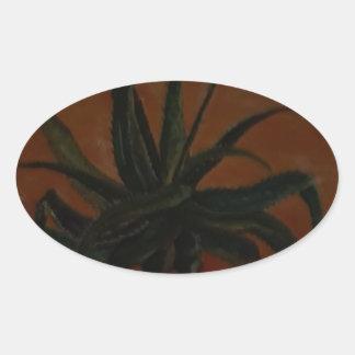 Aloe Oval Sticker