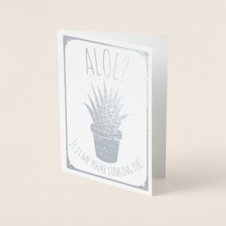 Aloe Pun Succs That I Missed Your Birthday Belated Foil Card