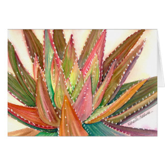 Aloe watercolor greeting card by Debra Lee Baldwin
