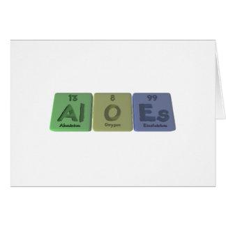 Aloes-Al-O-Es-Aluminium-Oxygen-Einsteinium Greeting Cards