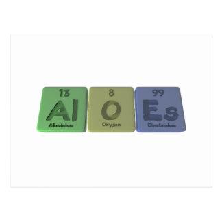 Aloes-Al-O-Es-Aluminium-Oxygen-Einsteinium Post Card