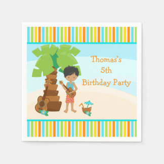 Aloha African American Boy Party Disposable Napkin