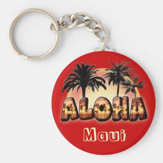 Aloha Basic Round Button Key Ring