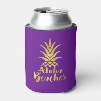 Aloha Beaches Bachelorette Party Favor Can Cooler