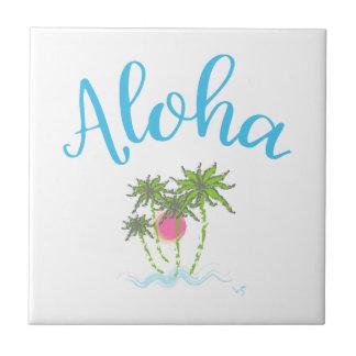 Aloha Beaches Hawaiian Style Summer Ceramic Tile