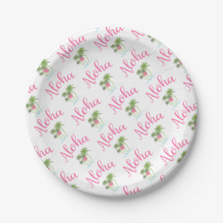 Aloha-Beaches Hawaiian Style Summer Fun Paper Plate