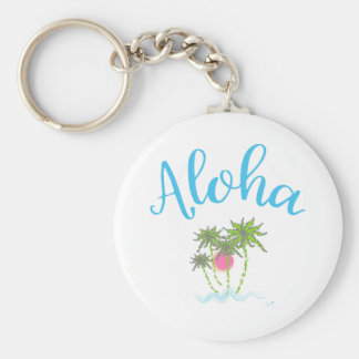 Aloha Beaches Hawaiian Style Summer Key Ring