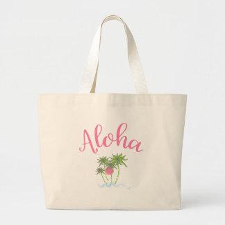 Aloha Beaches Hawaiian Style Summer Large Tote Bag