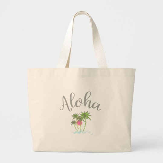 Aloha Beaches Hawaiian Style Summer Large Tote Bag