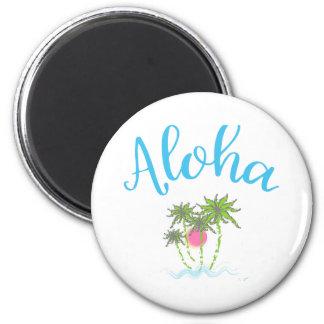 Aloha Beaches Hawaiian Style Summer Magnet