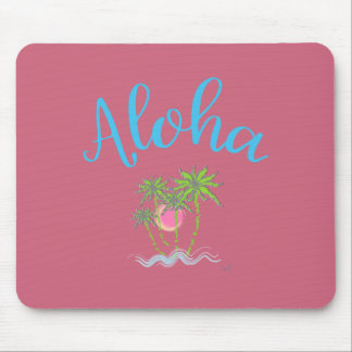 Aloha Beaches Hawaiian Style Summer Tropical Mouse Pad