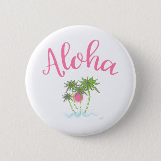 Aloha Beaches Hawaiian Style Summera 6 Cm Round Badge