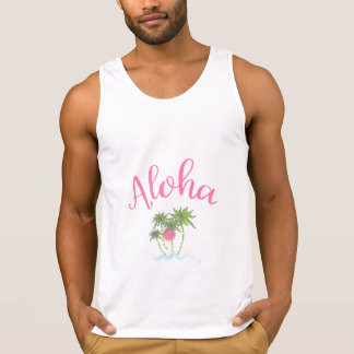 Aloha Beaches Hawaiian Style Vacation Cool Singlet