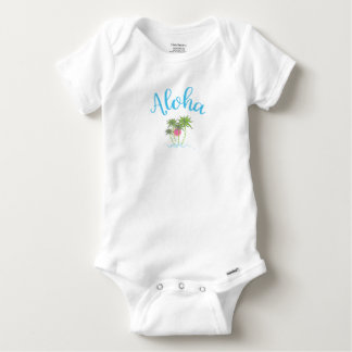 Aloha-Beaches, Hawaiian Vacation Cool Baby Onesie