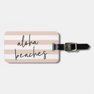 Aloha Beaches Personalized Luggage Tag