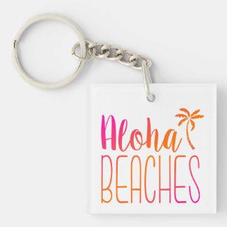 Aloha Beaches | Pink and Orange Ombre Keychain