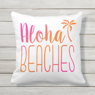 Aloha Beaches | Pink and Orange Pillow