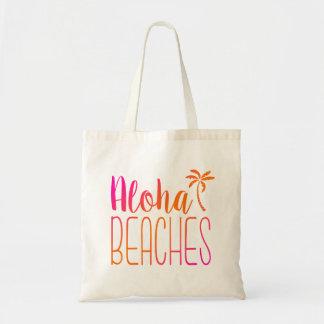 Aloha Beaches   Pink and Orange Tote Bag