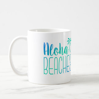 Aloha Beaches   Turquoise Ombre Mug