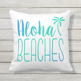 Aloha Beaches | Turquoise Ombre Pillow