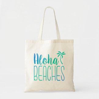 Aloha Beaches   Turquoise Ombre Tote Bag