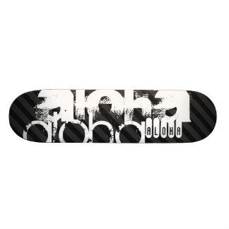 Aloha; Black & Dark Gray Stripes 20 Cm Skateboard Deck