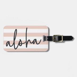 Aloha | Blush Pink Personalized Luggage Tag