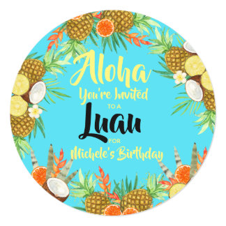 Aloha! Bright Fun Luau Card