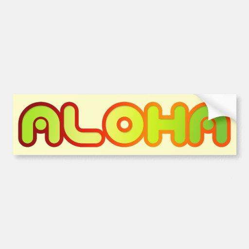 Aloha Bumper Sticker