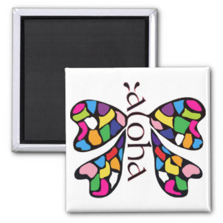 Aloha butterfly magnet