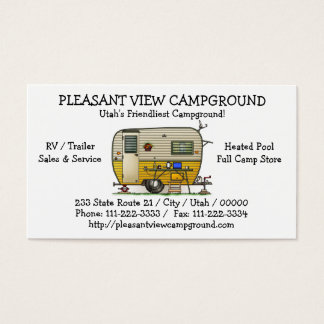 Aloha Camper Trailer Business Card