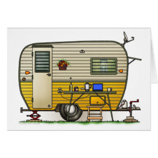 Aloha Camper Trailer Greeting Card