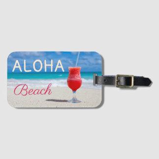 Aloha carribean beach paradise dream luggage tag