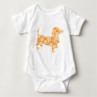 Aloha-Doxie-Orange Baby Bodysuit