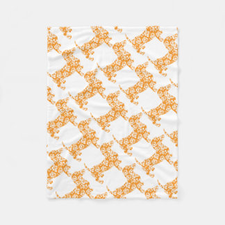 Aloha-Doxie-Orange Fleece Blanket