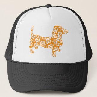 Aloha-Doxie-Orange Trucker Hat