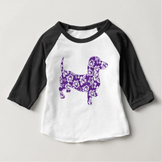 Aloha-Doxie-Purple Baby T-Shirt