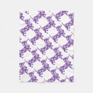 Aloha-Doxie-Purple Fleece Blanket