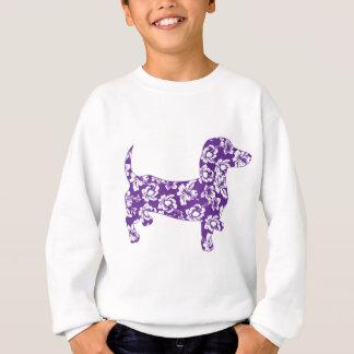 Aloha-Doxie-Purple Sweatshirt